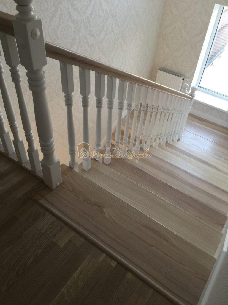 Фото 34 маршевых лестниц из дерева
