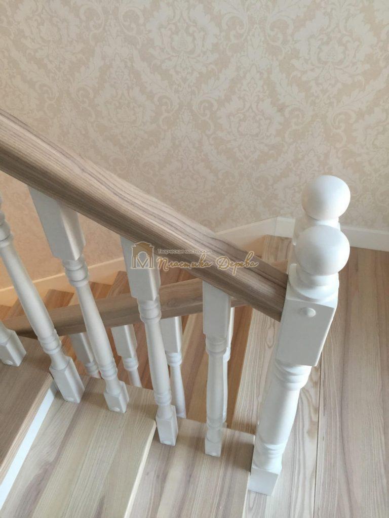Фото 31 маршевых лестниц из дерева