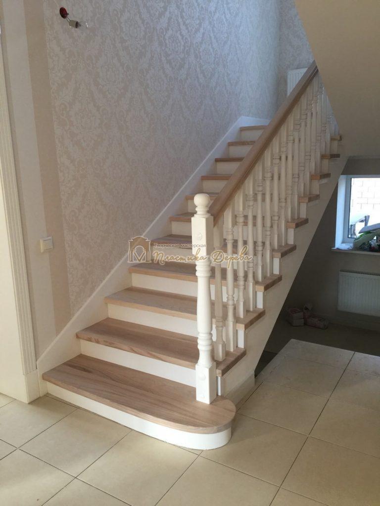 Фото 30 маршевых лестниц из дерева
