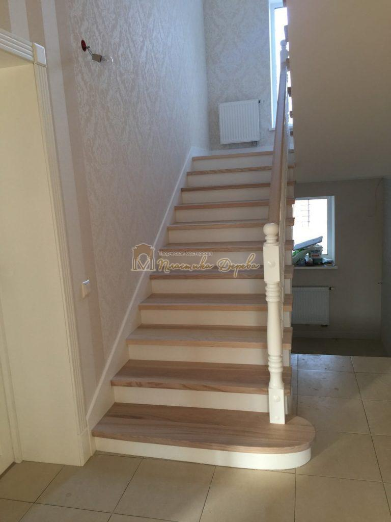 Фото 29 маршевых лестниц из дерева