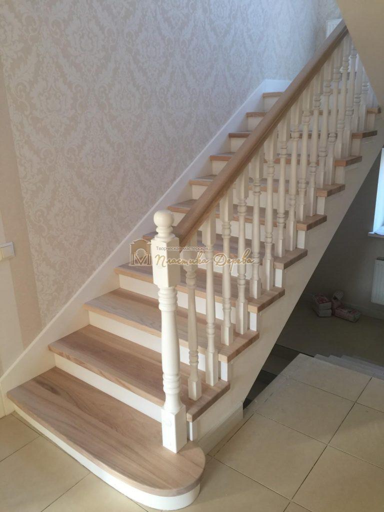 Фото 27 маршевых лестниц из дерева