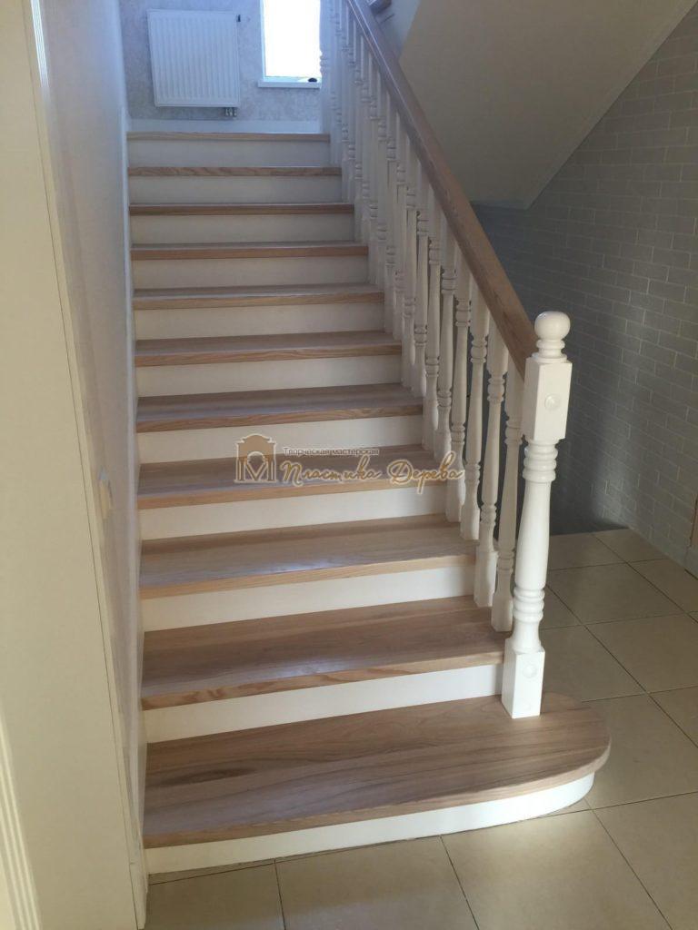 Фото 26 маршевых лестниц из дерева