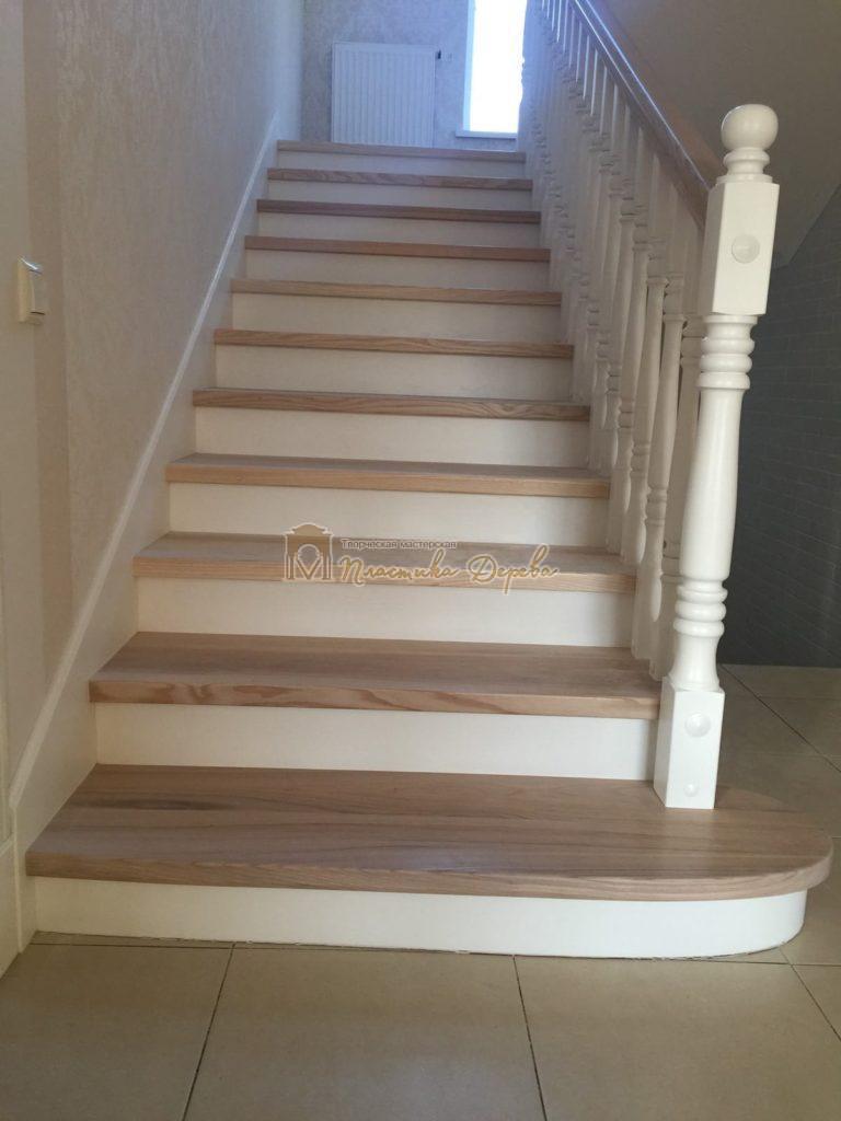 Фото 25 маршевых лестниц из дерева