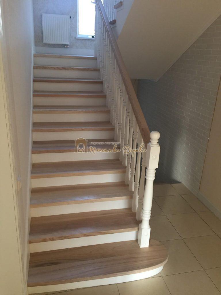 Фото 23 маршевых лестниц из дерева