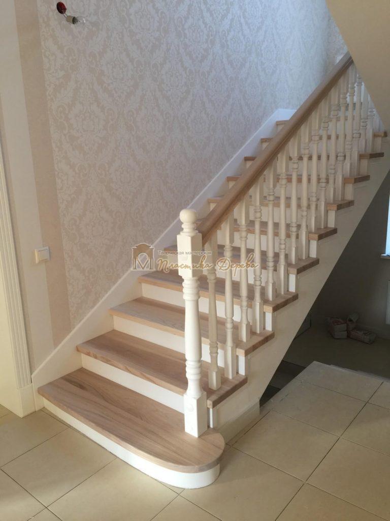 Фото 22 маршевых лестниц из дерева
