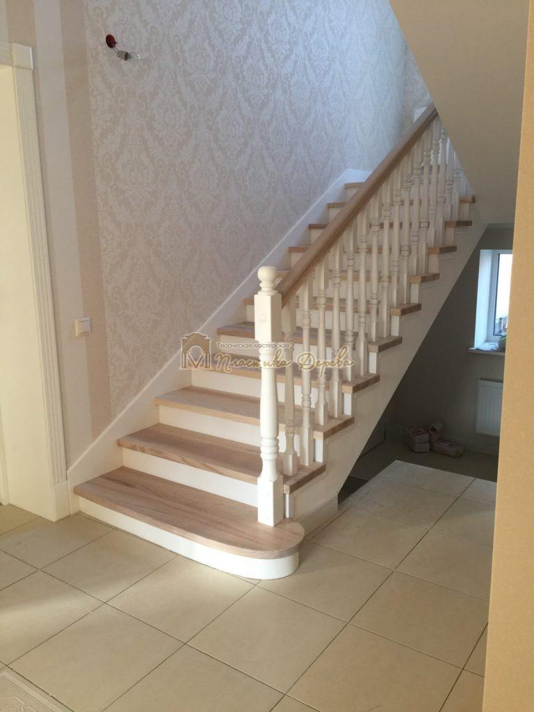 Фото 20 маршевых лестниц из дерева