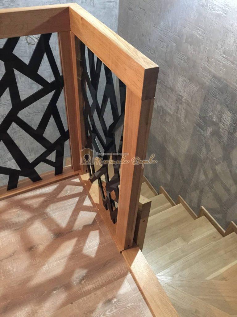 Фото 14 лестницы из дуба в современном стиле