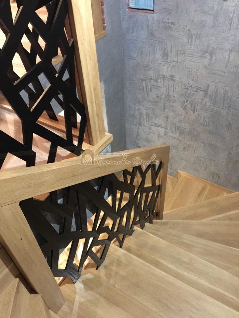 Фото 15 лестницы из дуба в современном стиле