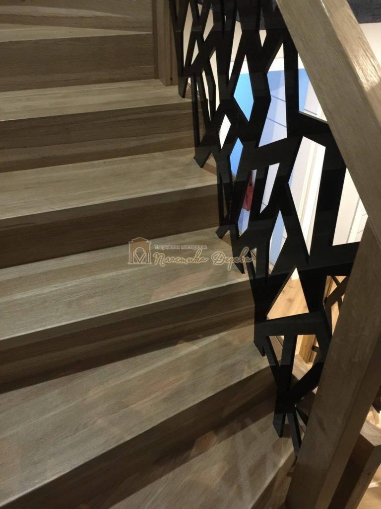 Фото 17 лестницы из дуба в современном стиле
