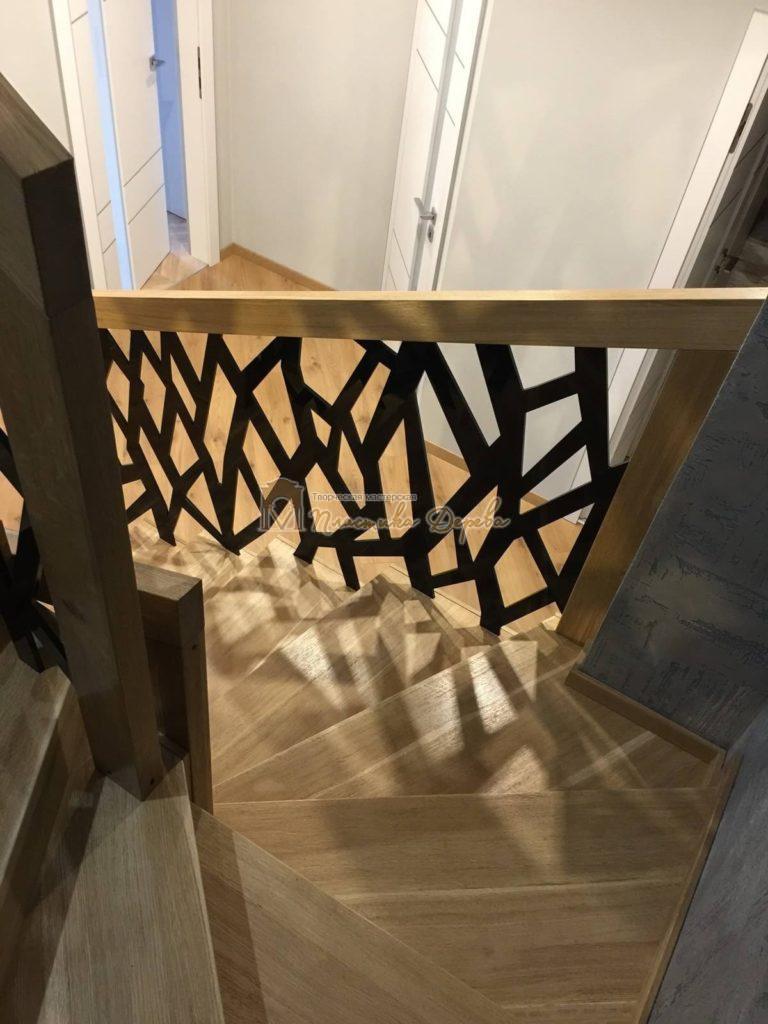 Фото 18 лестницы из дуба в современном стиле