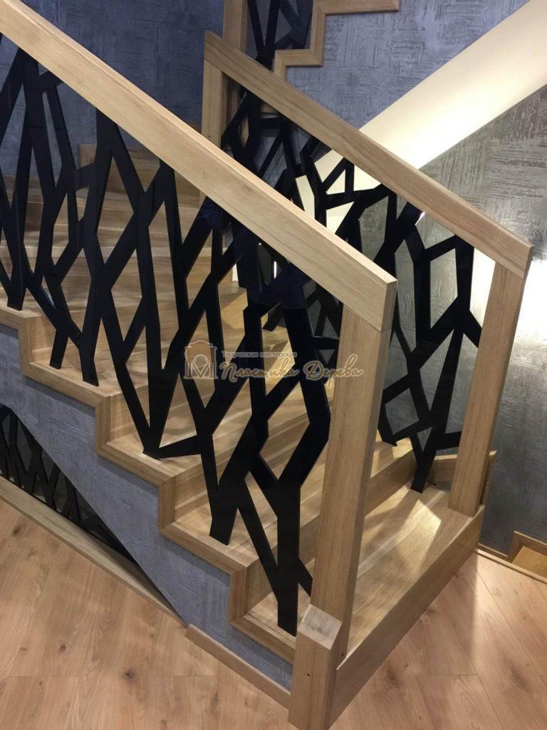 Фото 2 лестницы из дуба в современном стиле