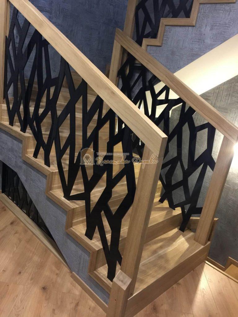 Фото 3 лестницы из дуба в современном стиле