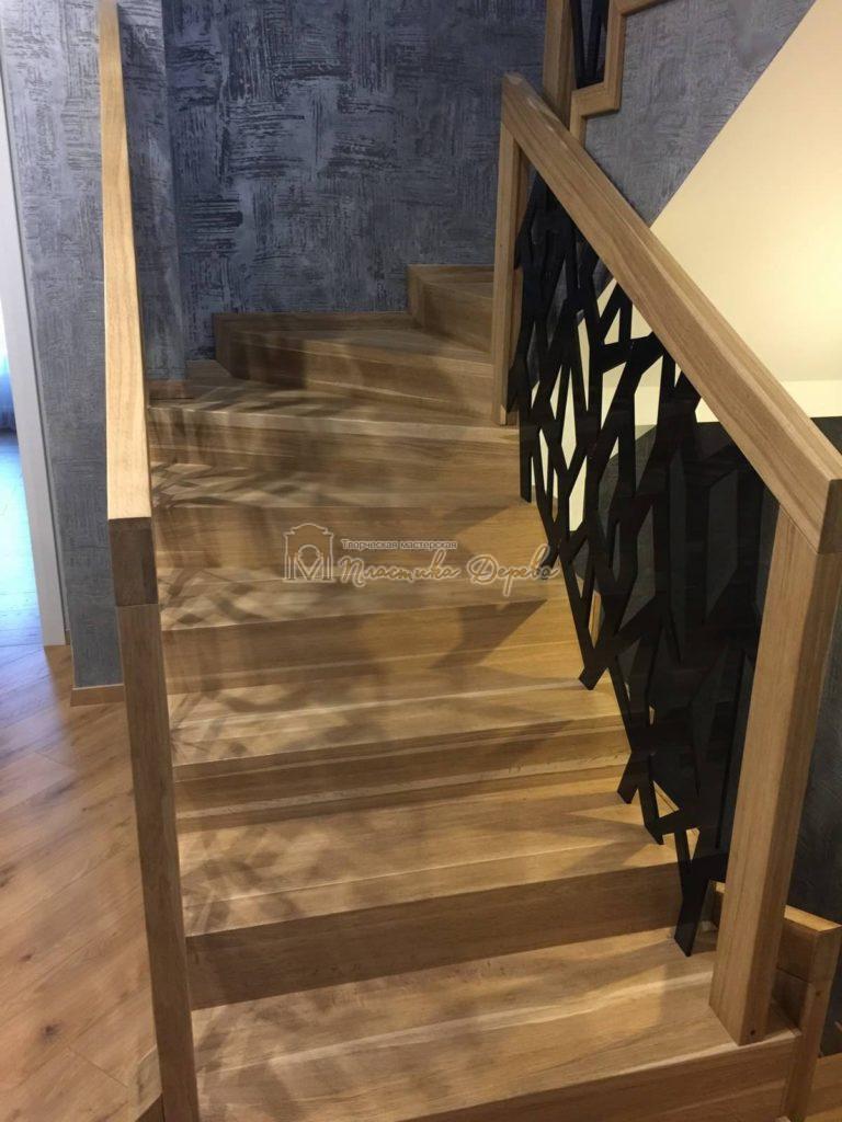 Фото 4 лестницы из дуба в современном стиле