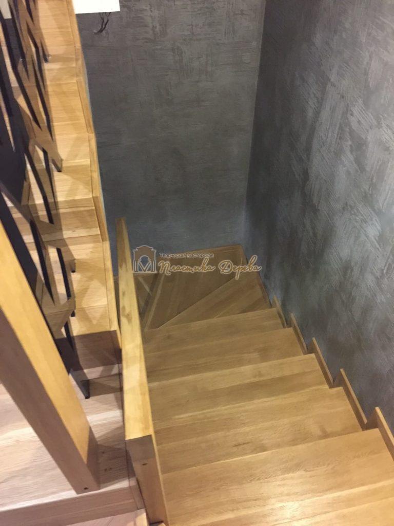 Фото 6 лестницы из дуба в современном стиле