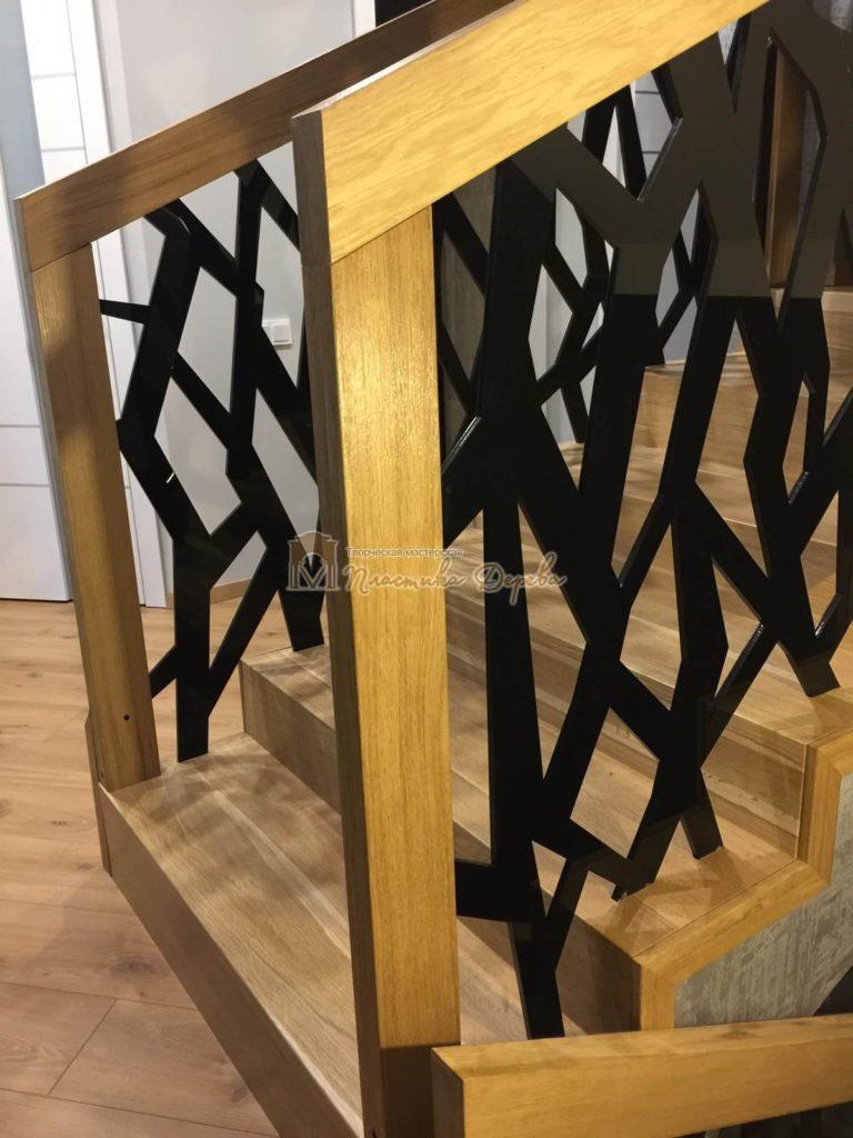 Фото 7 лестницы из дуба в современном стиле