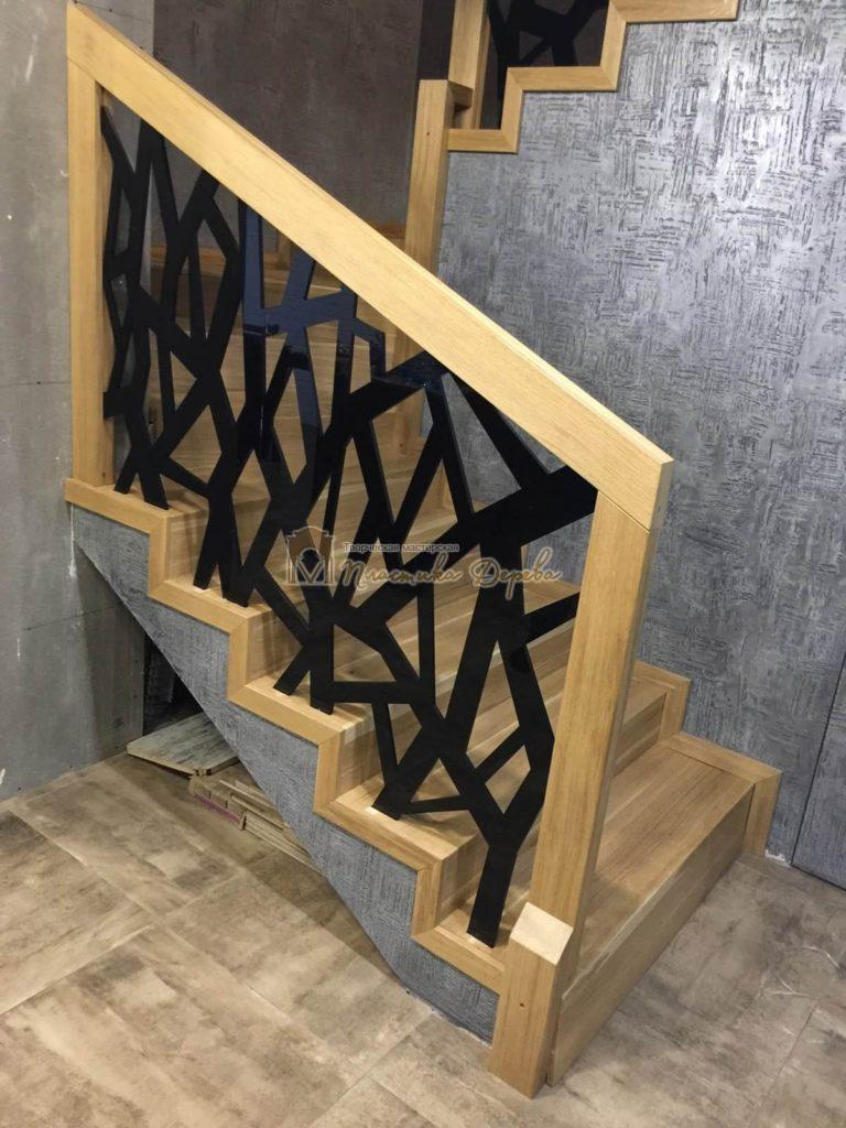 Фото 8 лестницы из дуба в современном стиле