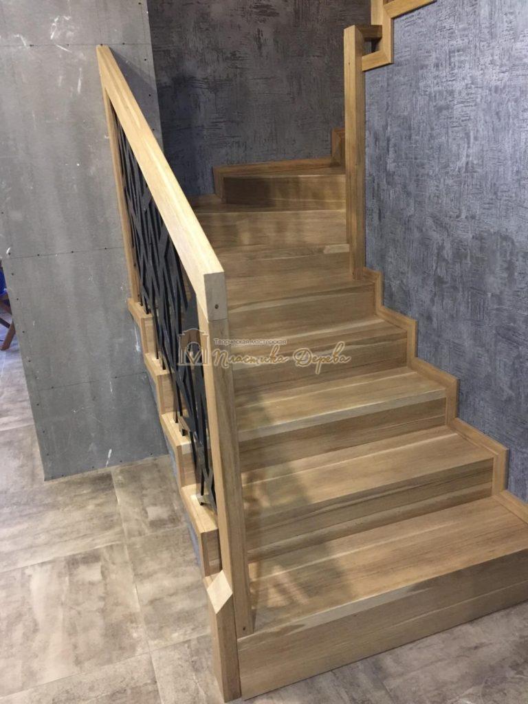 Фото 9 лестницы из дуба в современном стиле