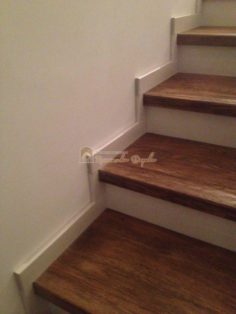 Фото 25 лестницы из дуба в стиле прованс