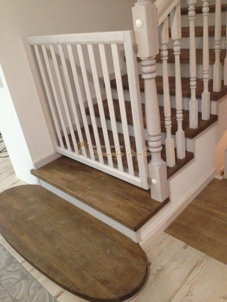 Фото 15 лестницы из дуба в стиле прованс