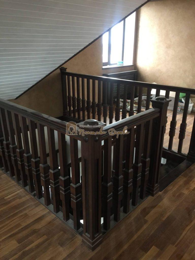 Фото 13 полувинтовой лестницы из ясеня