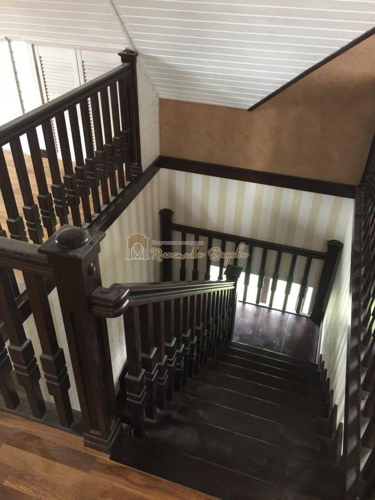 Фото 14 полувинтовой лестницы из ясеня