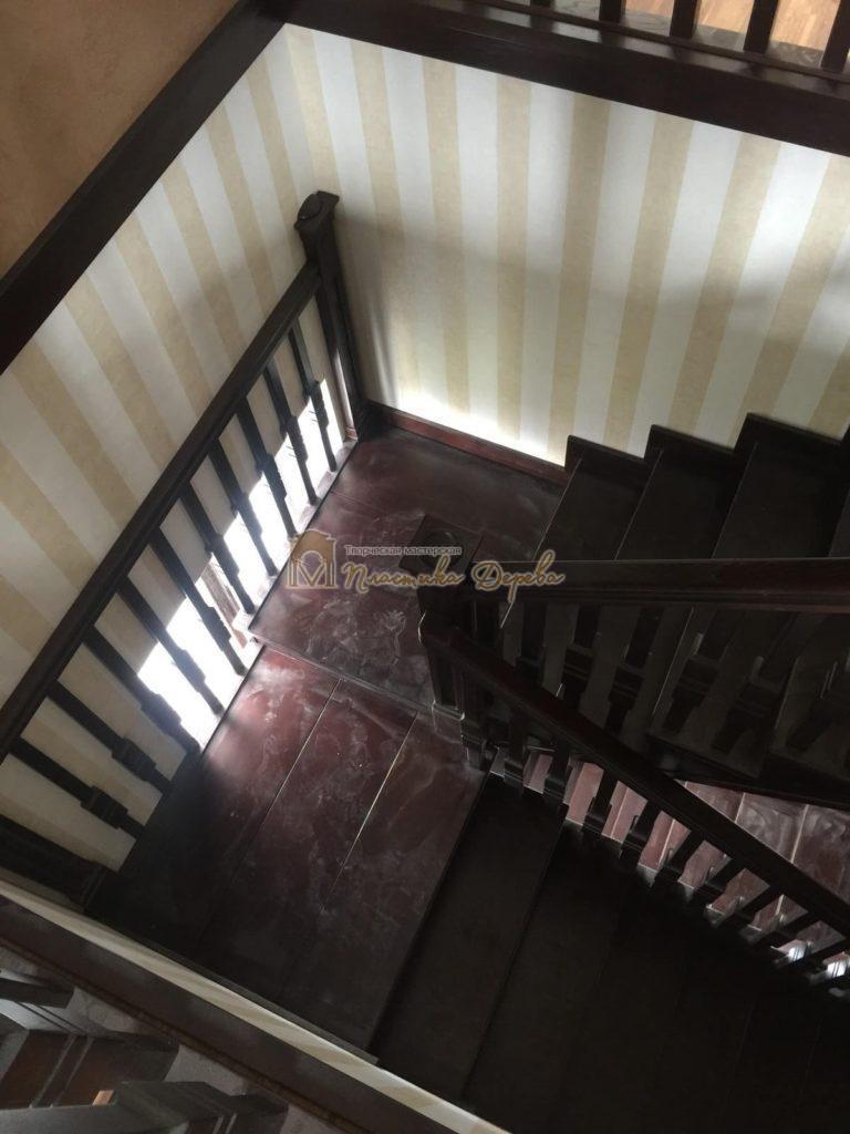 Фото 18 полувинтовой лестницы из ясеня