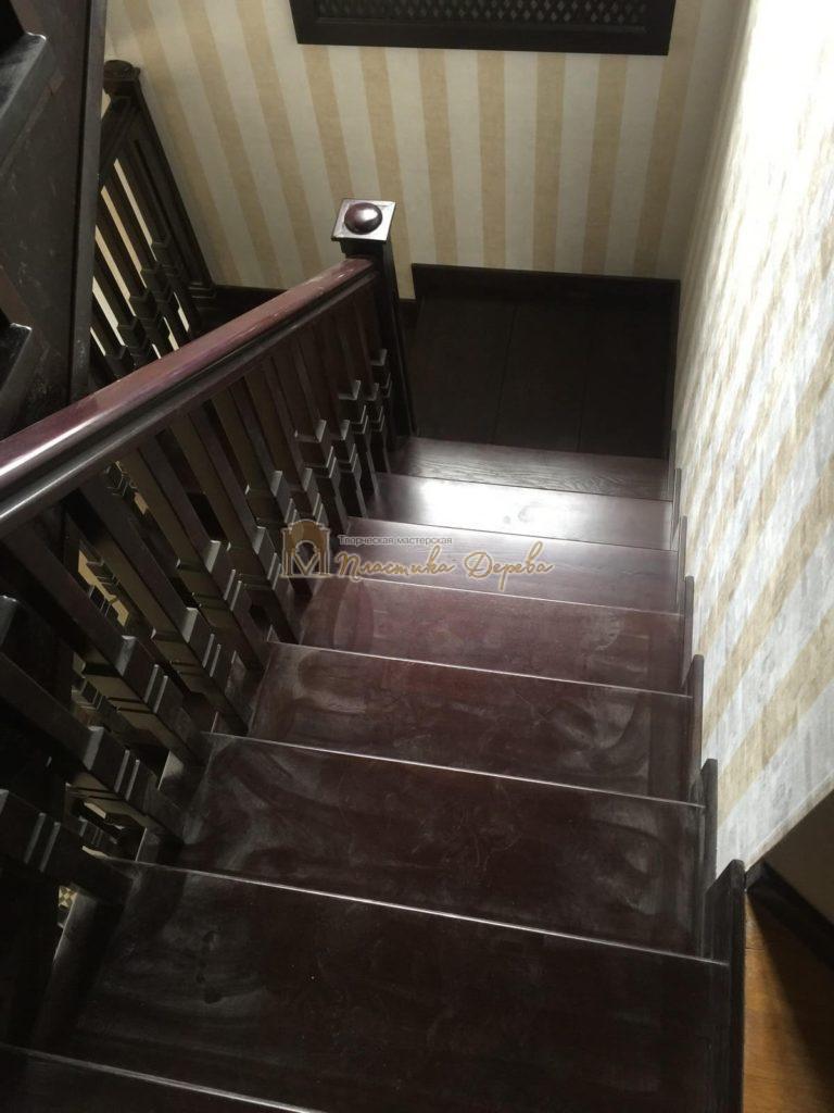 Фото 20 полувинтовой лестницы из ясеня