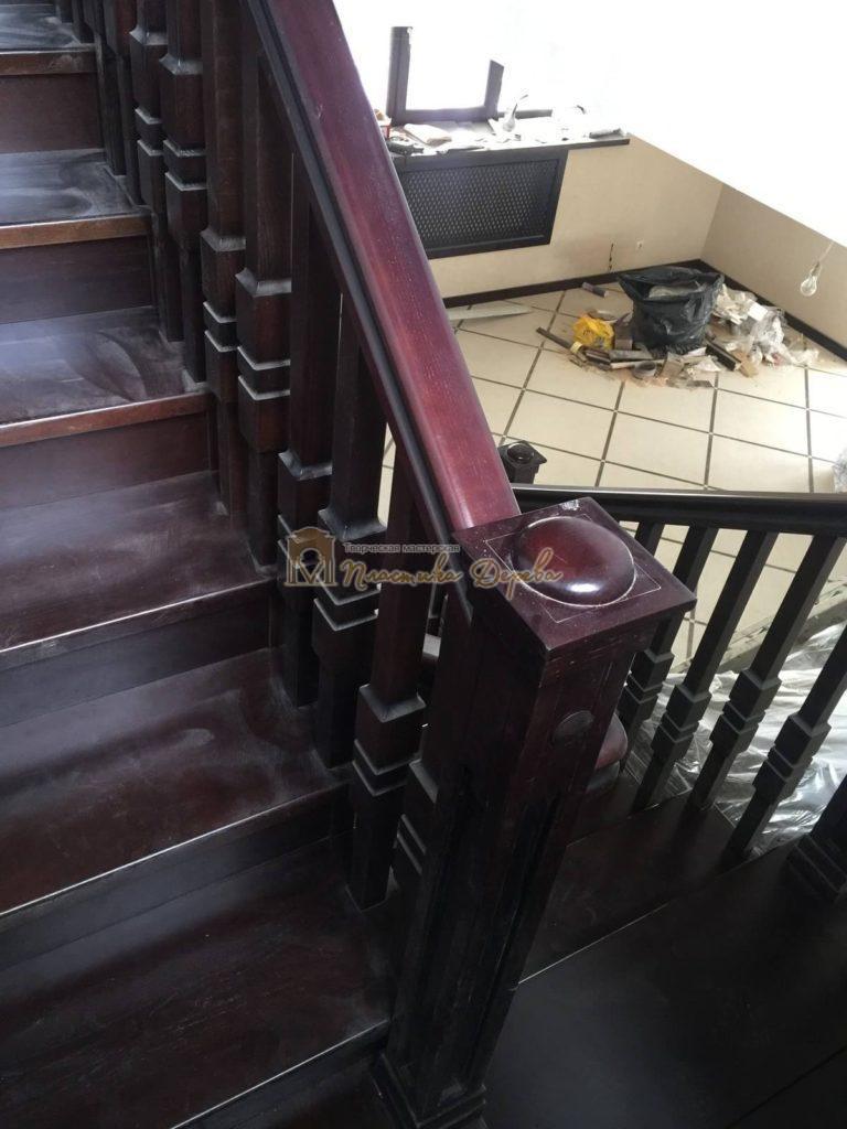 Фото 21 полувинтовой лестницы из ясеня