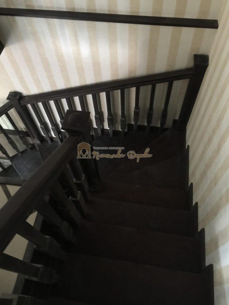 Фото 25 полувинтовой лестницы из ясеня