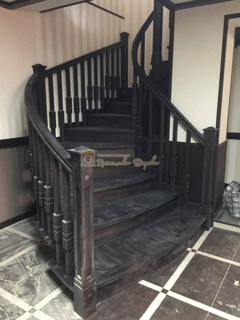 Фото 28 полувинтовой лестницы из ясеня