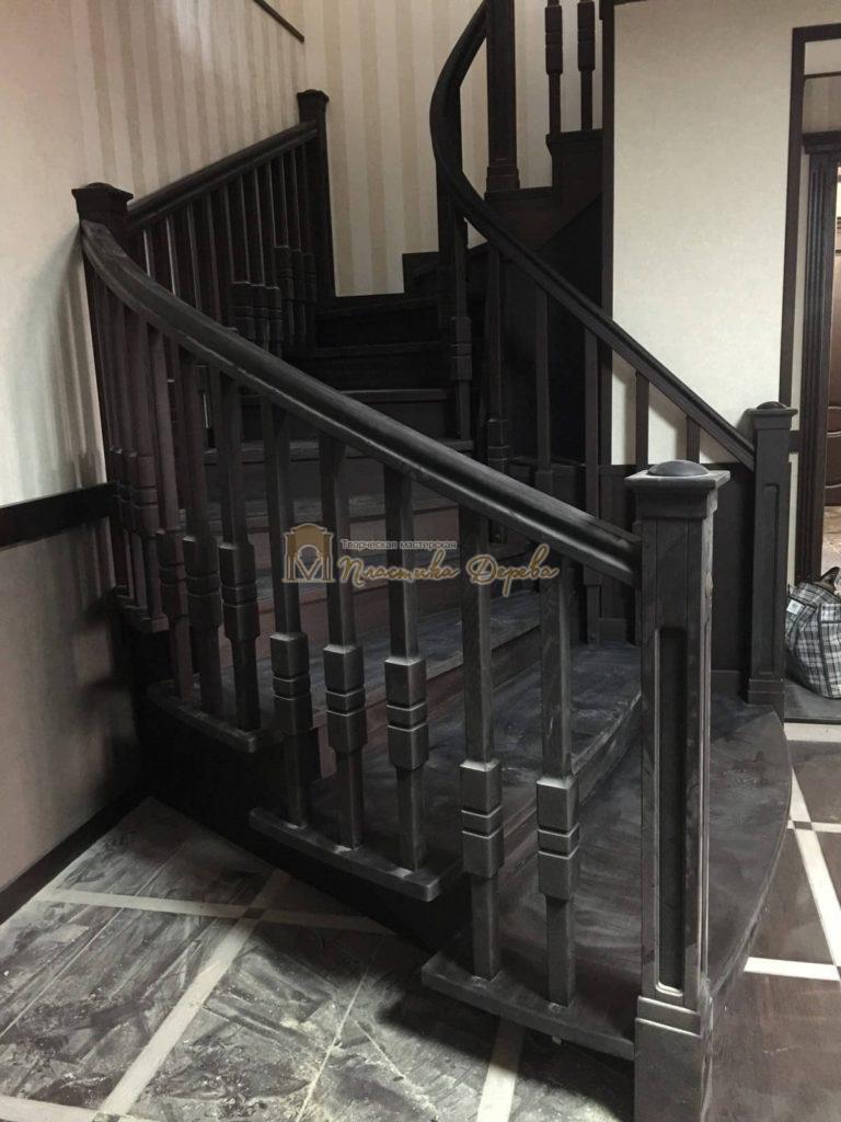 Фото 29 полувинтовой лестницы из ясеня