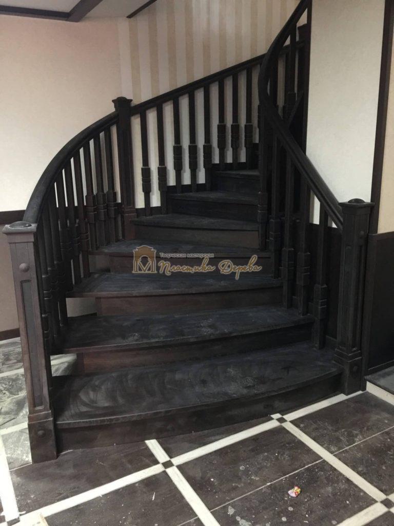 Фото 31 полувинтовой лестницы из ясеня