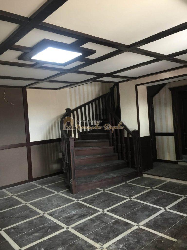 Фото 34 полувинтовой лестницы из ясеня