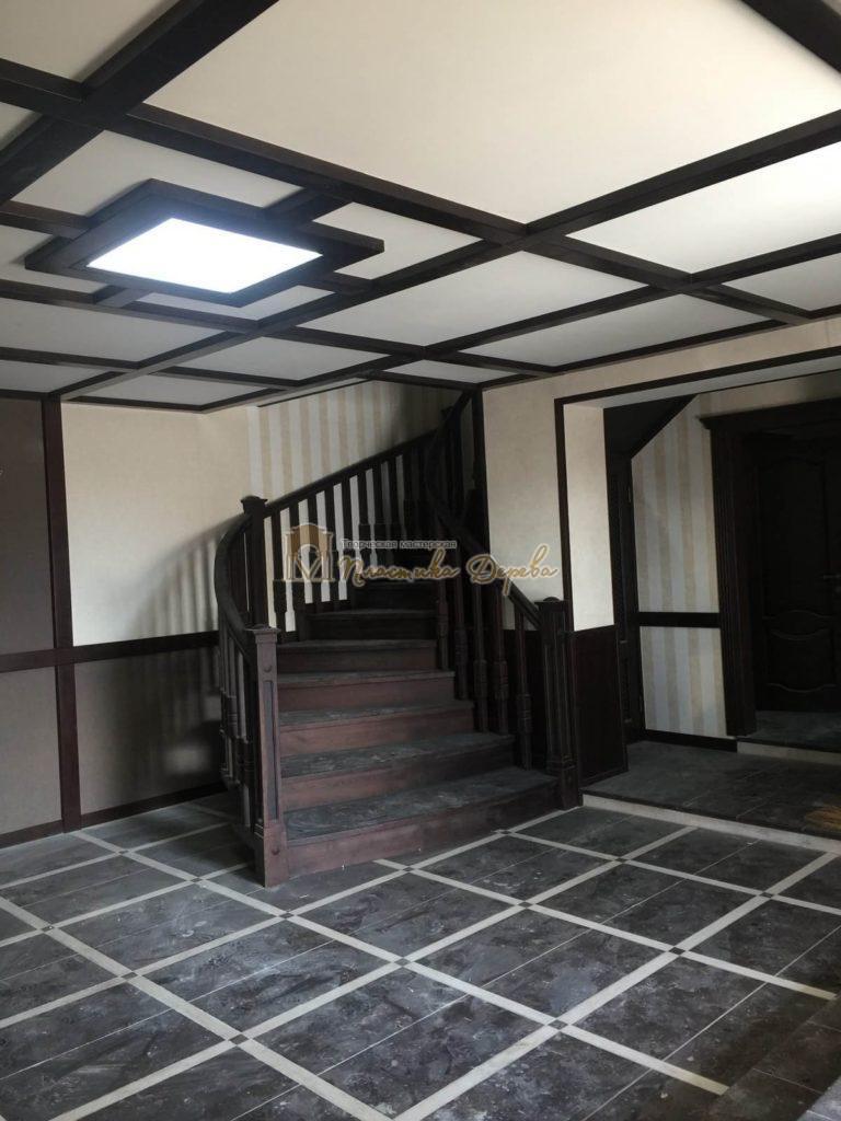 Фото 35 полувинтовой лестницы из ясеня