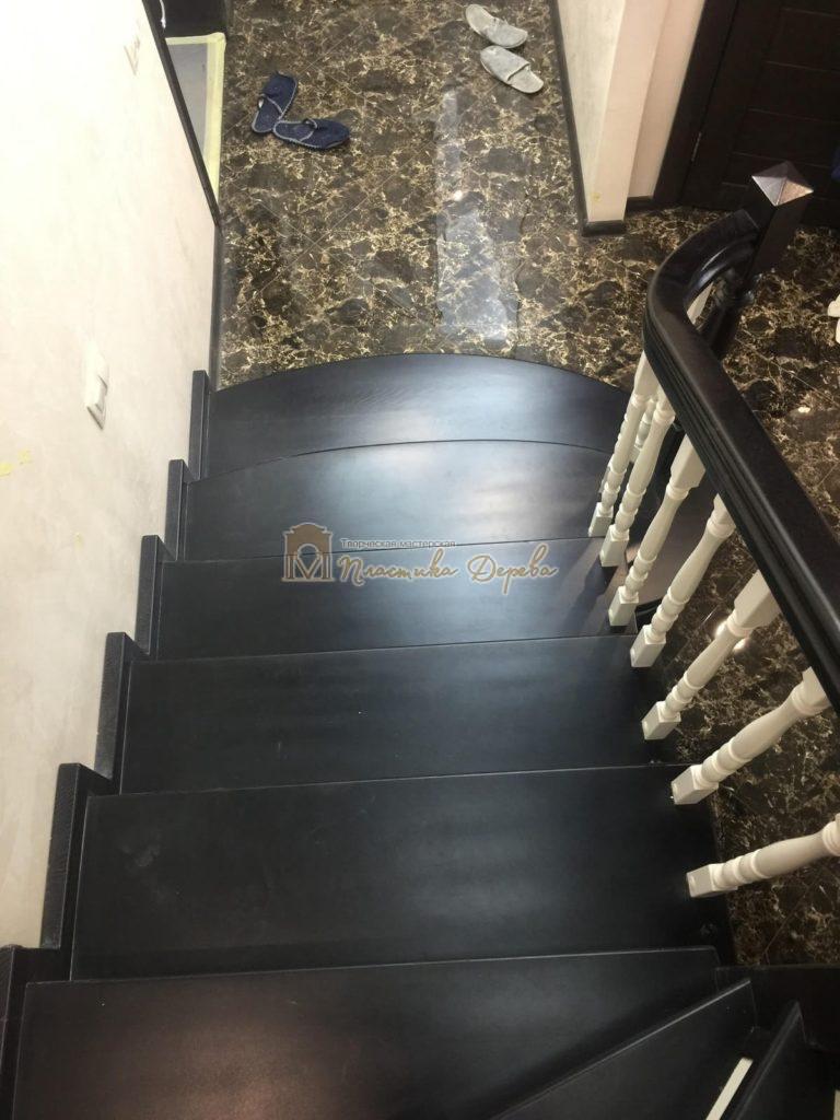 Фото 8 лестницы с забежными ступенями