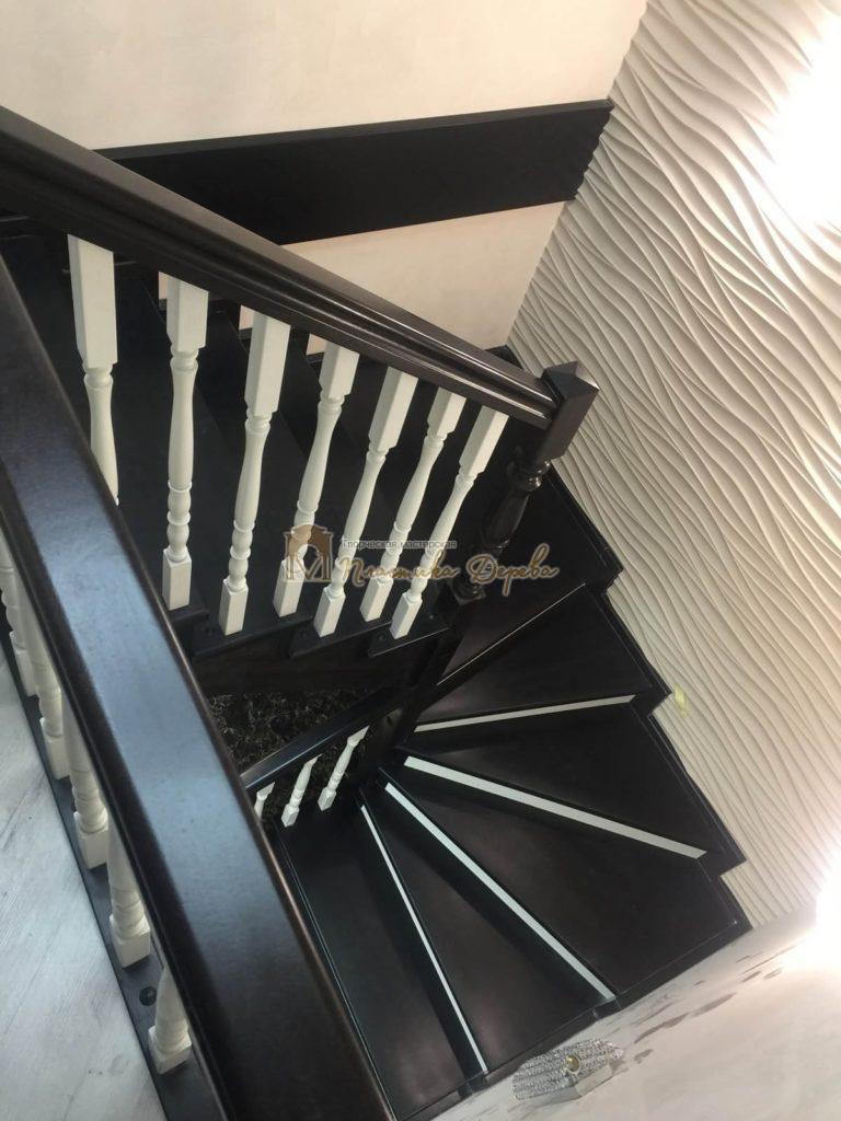 Фото 12 лестницы с забежными ступенями