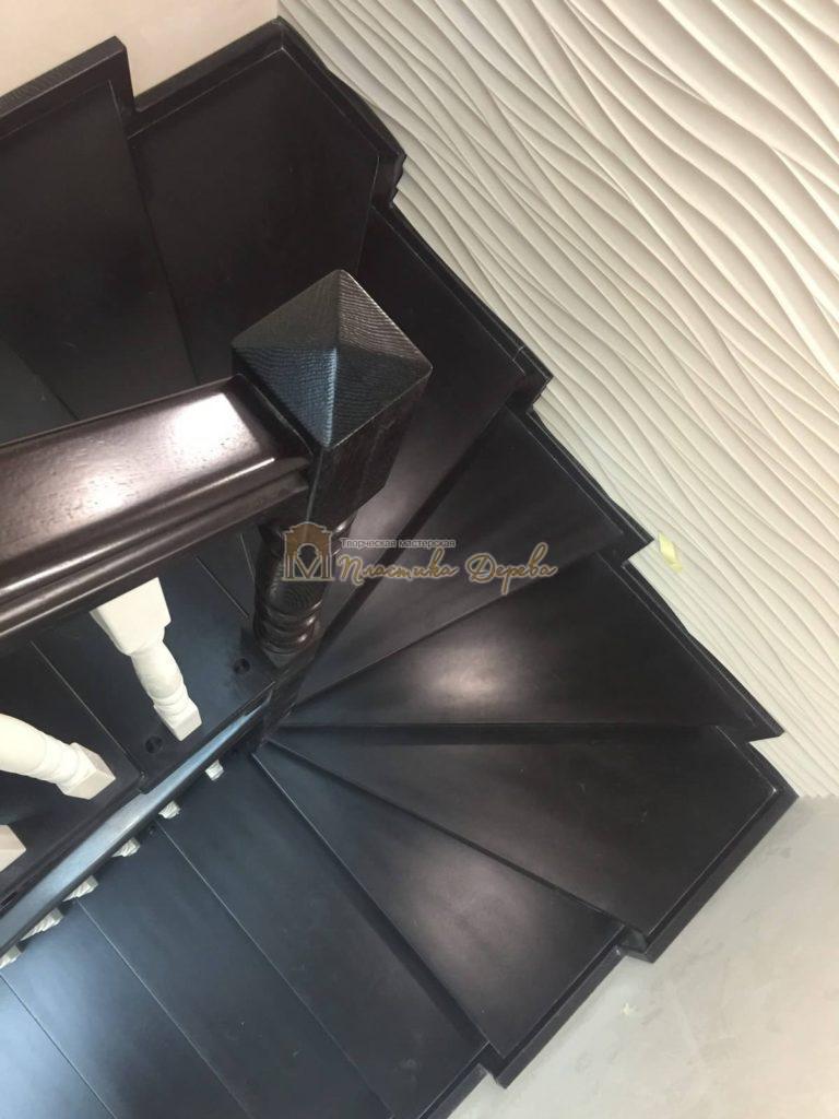 Фото 16 лестницы с забежными ступенями