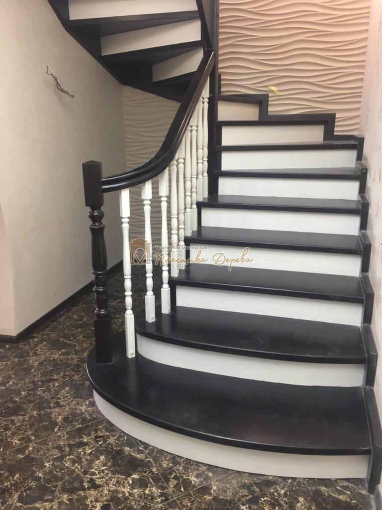 Фото 20 лестницы с забежными ступенями