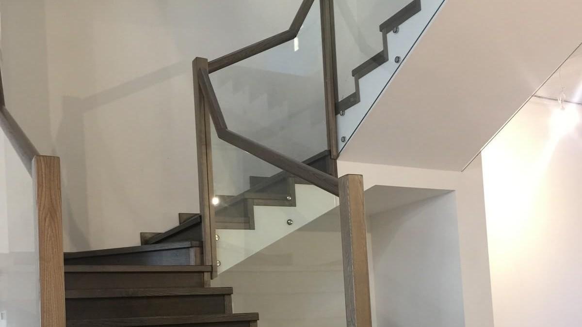 Комбинированные лестницы (фото)
