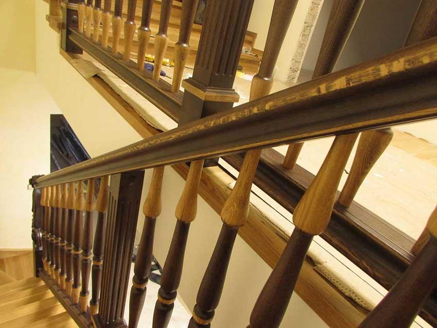 Лестницы из дерева (фото)