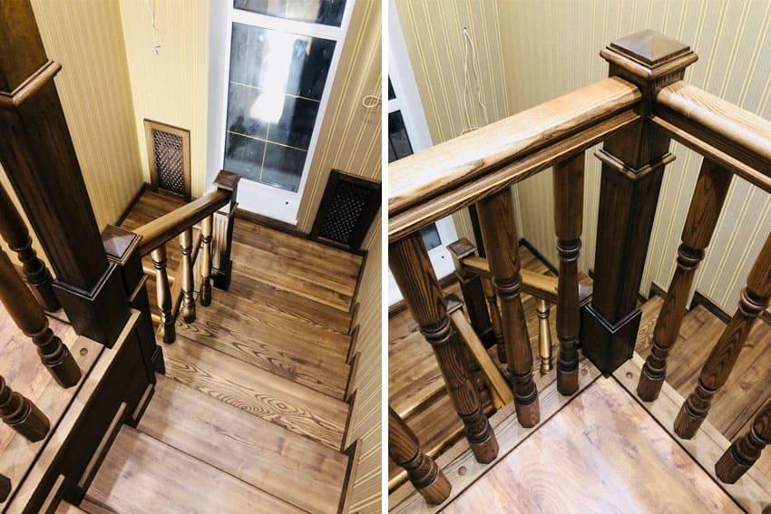 Облицовка лестниц деревом: бетонных и металлических лестниц