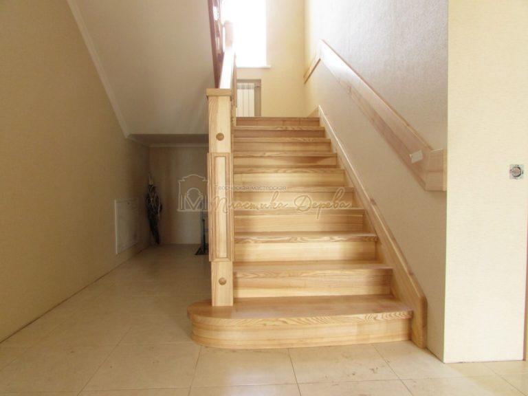 Фото 5 лестницы из ясеня с площадкой