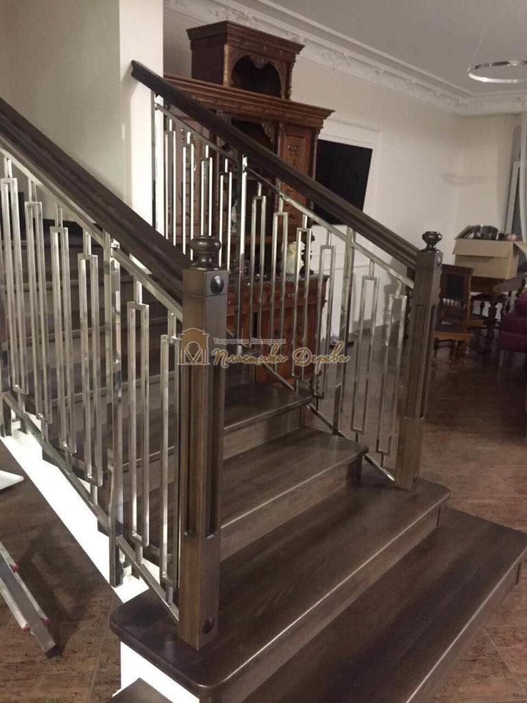 Фото 7 лестницы со стальными элементами