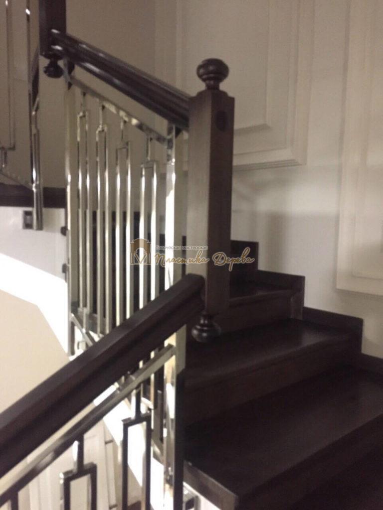 Фото 3 лестницы со стальными элементами