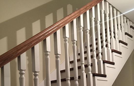 Одномаршевая лестница (фото)