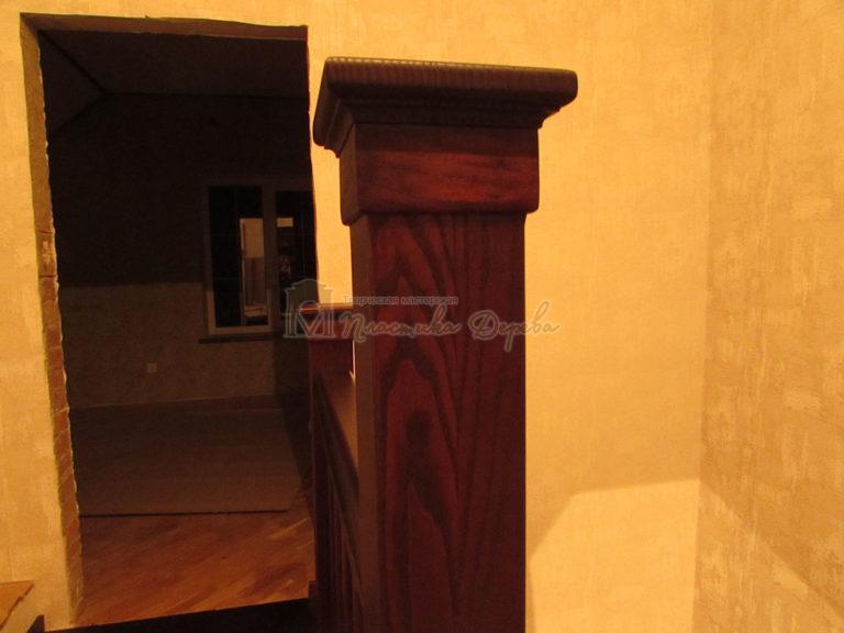 Полувинтовая лестница из ясеня (фото 15)