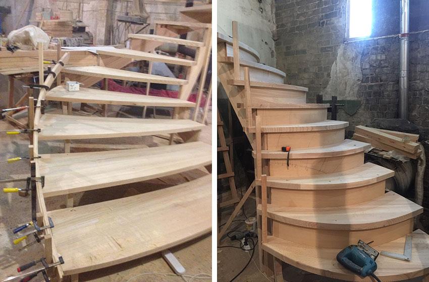 Изготовление деревянной лестницы (фото)