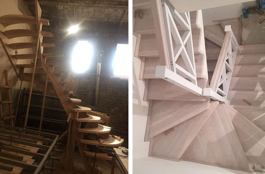 Изготовление лестницы. Фото изделий