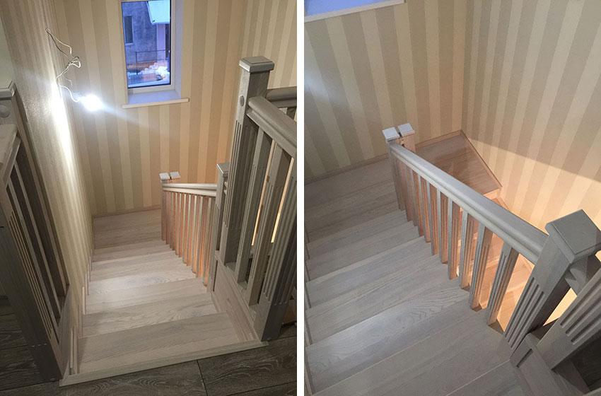 Деревянная облицовка лестницы (фото)