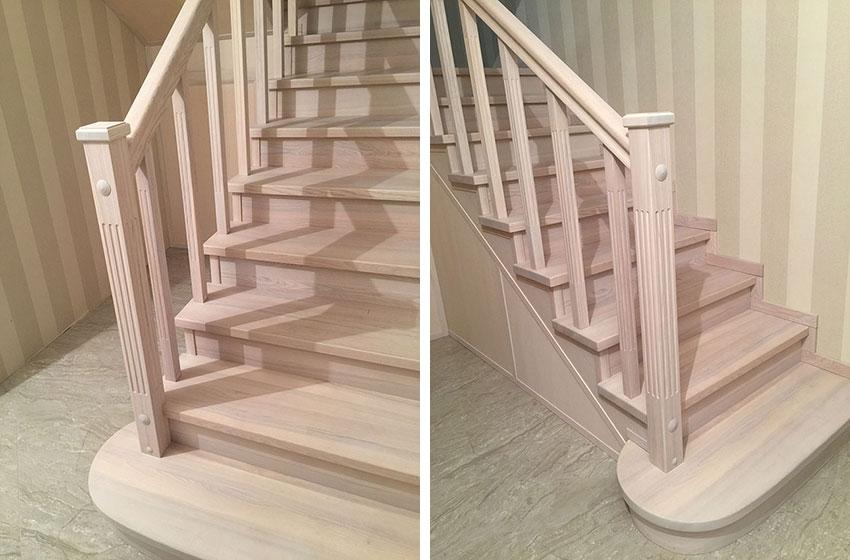 Отделка лестниц деревом. Фото лестницы
